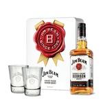 Виски Jim Beam White 4 года 40% 0.7л + 2 бокала
