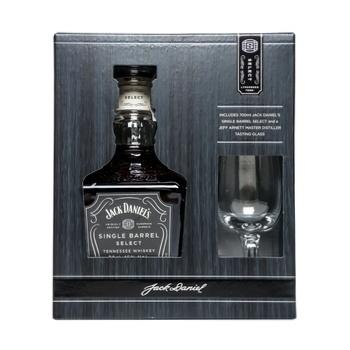 Виски Jack Daniel's Single Barrel 45% 0.7л + 1 бокал в подарочной упаковке - купить, цены на СитиМаркет - фото 1