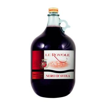 Вино Le Rovole Nero d'Avola IGT красное сухое 12,5% 5л - купить, цены на Novus - фото 1