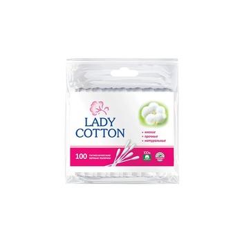 Палички ватні Lady Cotton в поліетиленовому пакеті 100шт - купити, ціни на Novus - фото 1