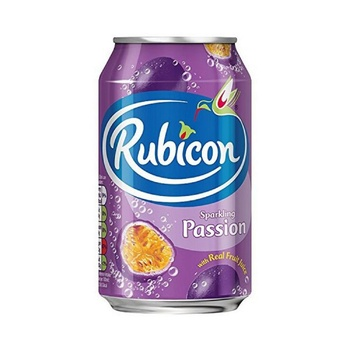 Rubicon with passion carbonated beverage 330ml
