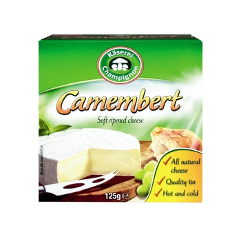 Сир Kaserei камамбер м'який з пліснявою 50% 125г - купити, ціни на Метро - фото 1