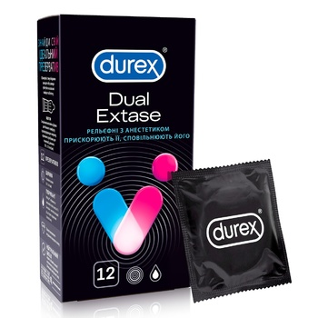 Durex Dual Extase Condoms 12pcs - buy, prices for MegaMarket - image 1
