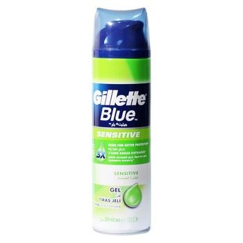 Гель для гоління Gillette Blue Sensitive Skin для чутливої шкіри 200мл - купити, ціни на Восторг - фото 1