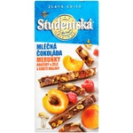 Шоколад молочный ORION® Studentská с арахисом, кусочками желе и абрикосом 170г