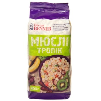 Doctor Benner Tropic Muesli 400g - buy, prices for Auchan - photo 1