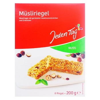 Jeden Tag Muesli Bar With Nuts 200g - buy, prices for Furshet - image 1