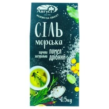 Avgust Sea Salt Ground №1 500g - buy, prices for CityMarket - photo 1