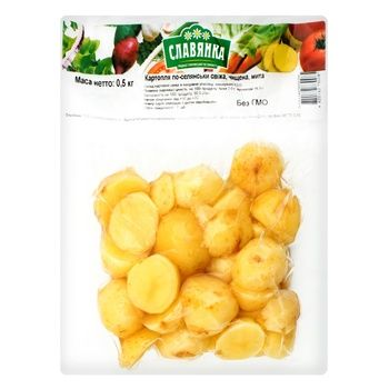 Potato Slavjanka Country style fresh peeled washed 500g - buy, prices for Auchan - photo 2