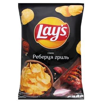 Чипсы Lay's картофельные со вкусом ребрышек гриль 133г