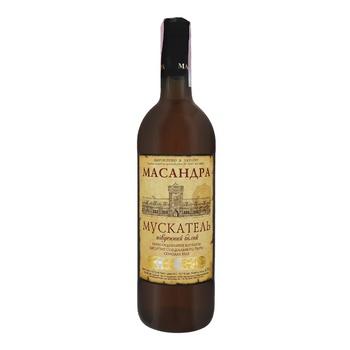 Вино Масандра Мускатель південний біле сухе 16% 0,75л - купити, ціни на Ашан - фото 1