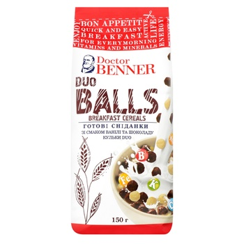 Dr.Benner Duo Balls Ready-To-Eat Breakfast 150g - buy, prices for CityMarket - photo 1