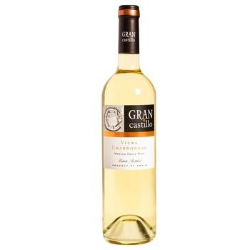 Вино Gran Castillo Viura Chardonnay белое полусладкое 11% 0,75л