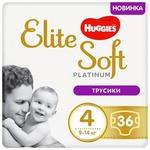 Трусики-подгузники Huggies Elite Soft Platinum Mega 4 9-14кг 36шт