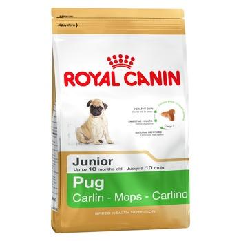 Корм сухий Royal Canin Pug Junior Мопс для собак до 10міс 1.5кг - купити, ціни на Восторг - фото 1