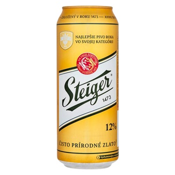 Пиво Steiger Gold светлое 5% 0.5л