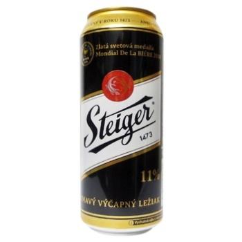 Пиво Steiger темне 4.5% 0.5л