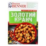 Мюслі Doctor Benner Золотий кранч родзинки та арахіс хрусткі запечені 400г