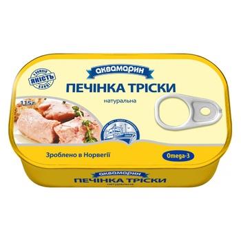 Akvamaryn Natural Cod Liver 115g - buy, prices for Novus - image 1