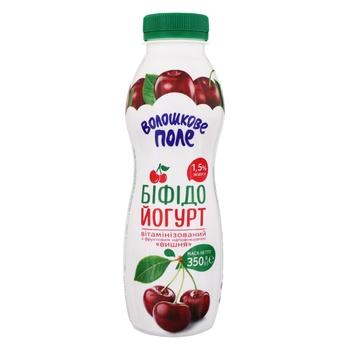 Бифидойогурт Волошкове Поле вишня 1,5% 350г