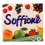 Серветки паперові Soffione одношарові персикові 33х33см 100шт