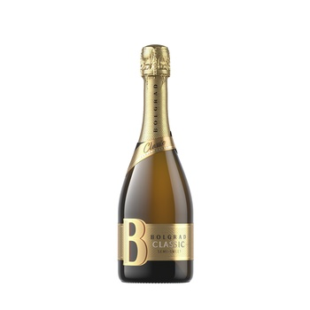 Шампанское Украины Bolgrad белое полусладкое 9-13% 0,75л - купить, цены на Ашан - фото 1