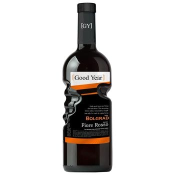 Bolgrad Good Year Fiore Rosso Grape Ordinary Table Red Semi-Sweet Wine 9-13% 0,75l - buy, prices for MegaMarket - image 1