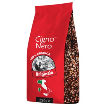 Кофе в зернами Cigno Nero Originale 250г - купить, цены на Фуршет - фото 1