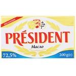 Масло President кислосливочное 72,5% 200г