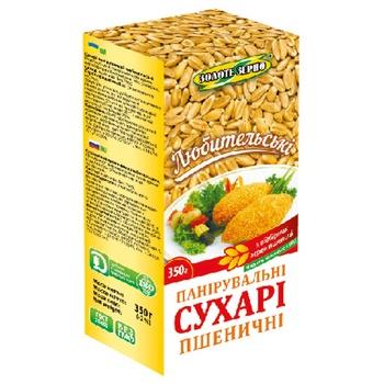 Сухари панировочные Золоте зерно пшеничные 350г - купить, цены на Восторг - фото 1