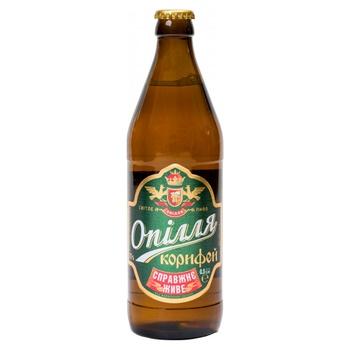 Пиво Опілля Корифей живе світле 3.7% 0,5л - купити, ціни на Фуршет - фото 1