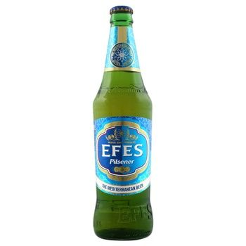 Pasteurized lager Efes Pilsener glass bottle 5%alc 500ml - buy, prices for Auchan - photo 1
