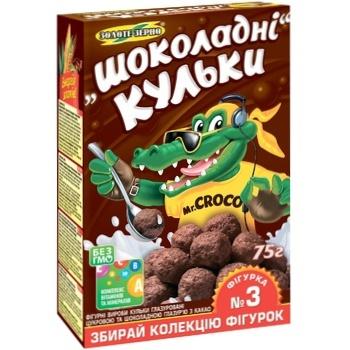 Шоколадные шарики Золотое Зерно Mr.CroCo 75г - купить, цены на Novus - фото 1