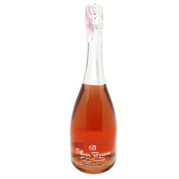 Вино игристое Silver Breeze Semi-Sweet розовое полусладкое 10-13,5% 0,75л - купить, цены на Novus - фото 1