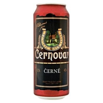 Пиво Cernovar темне фільтроване 4,5% 0,5л - купити, ціни на МегаМаркет - фото 1