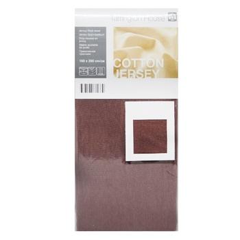 Tarrington House Sheet on rubber brown 160Х200cm - buy, prices for Metro - image 1