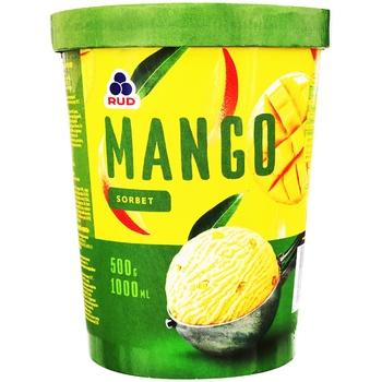 Мороженое Рудь Манго сорбет 500г - купить, цены на Ашан - фото 1