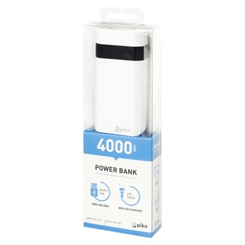 Внешний аккумулятор Piko Power Bank 4000mAh - купить, цены на Фуршет - фото 1