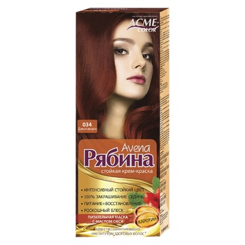 Краска для волос Acme Рябина 034 Дикая вишня