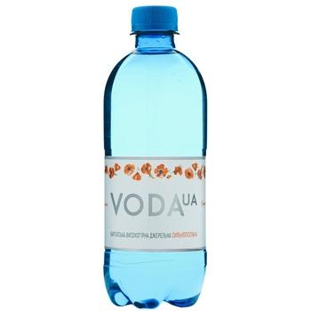 Вода питьевая Voda UA Карпатская высокогорная родниковая сильногазированная 0.5л - купить, цены на Фуршет - фото 1