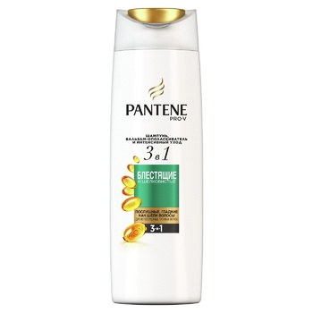 Pantene Pro-V 3in1 Shiny and Silky Shampoo and Balsam-Conditioner 360ml - buy, prices for MegaMarket - photo 1