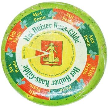 Сыр Huizer Гауда Песто зелёный 50%