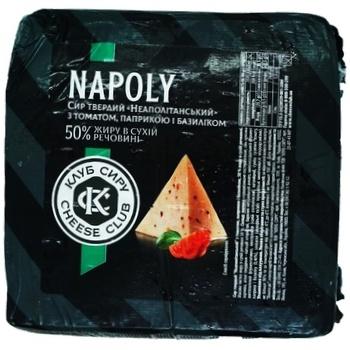 Сыр Клуб Сыра Неаполитанский с томатами, паприкой и базиликом 45% - купить, цены на Ашан - фото 1
