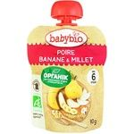Babybio Puree Banana and Millet for Children from 6 Months 90g
