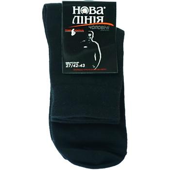 Шкарпетки Нова Лінія чоловічі чорні 27р - купити, ціни на Ашан - фото 1