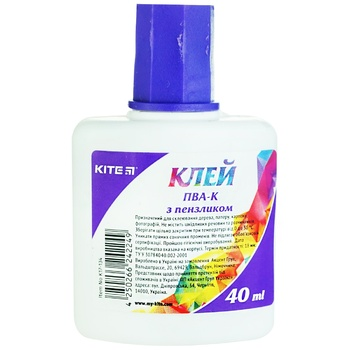 Клей Kite ПВА с кисточкой 40 мл - купить, цены на Ашан - фото 1