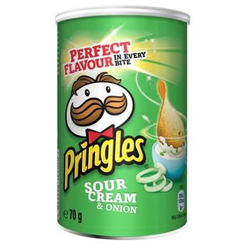 Чипсы Pringles картофельные со вкусом сметаны и лука 70г