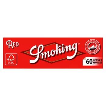 Бумага для самокруток Smoking Red №8 60шт - купить, цены на Novus - фото 1