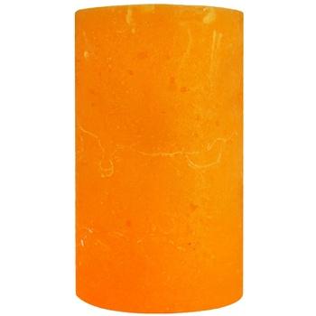 Свічка рустік циліндр 5Х8см помаранчева - купить, цены на Ашан - фото 1