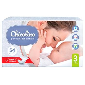 Подгузники Chicolino JUMBO 3 детские 4-9кг 54шт - купить, цены на Восторг - фото 1